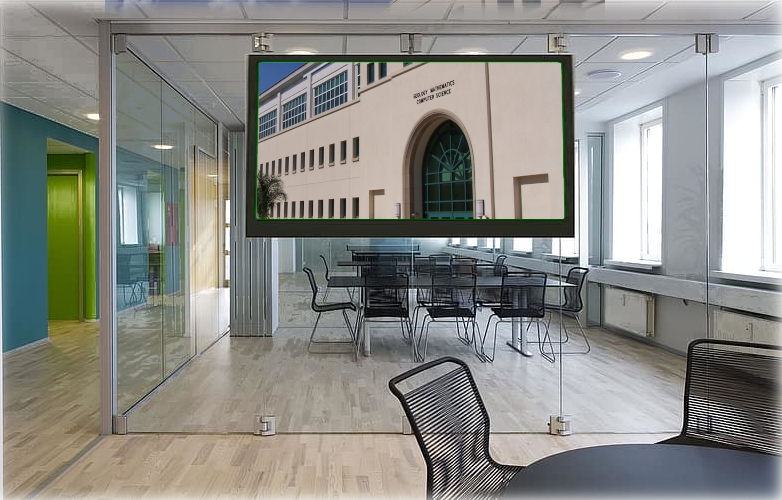 Virtual Office with GMCS Showing on Screen